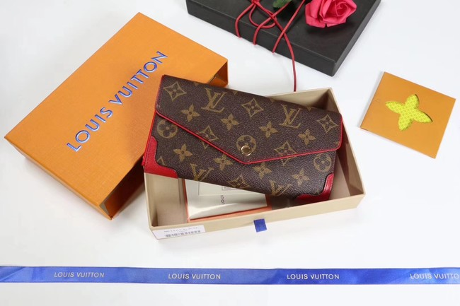 Louis Vuitton CAISSA WALLET N61184 red