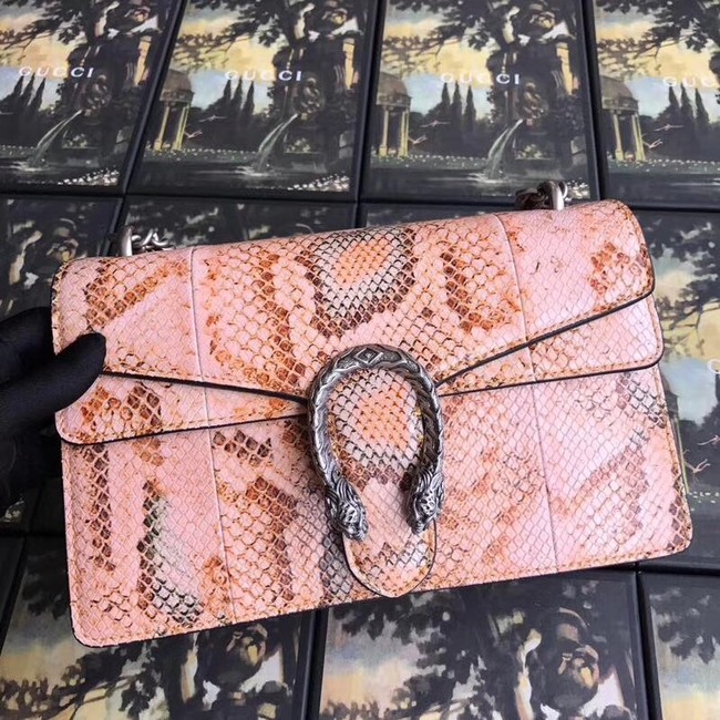 Gucci Dionysus small snakeskin shoulder bag 400249 pink