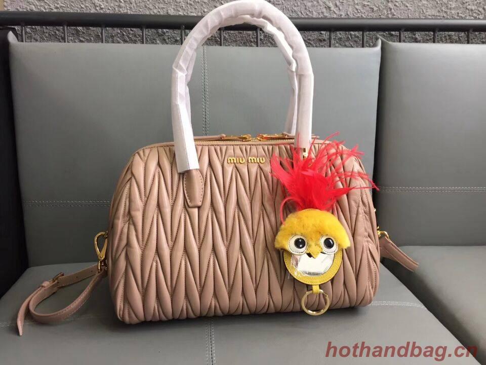 Miu Miu Matelasse Nappa Leather Top-handle Bags 5BB033 pink