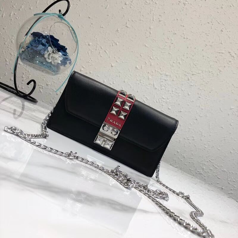 Prada Elektra Leather Mini Bag 1ZH061 black