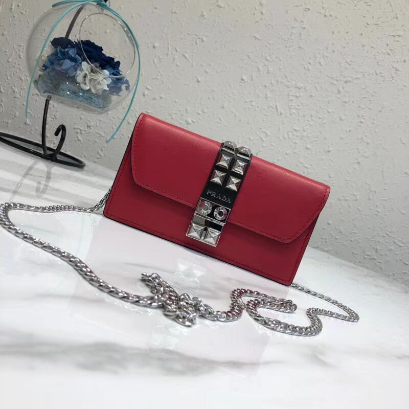 Prada Elektra Leather Mini Bag 1ZH061 red