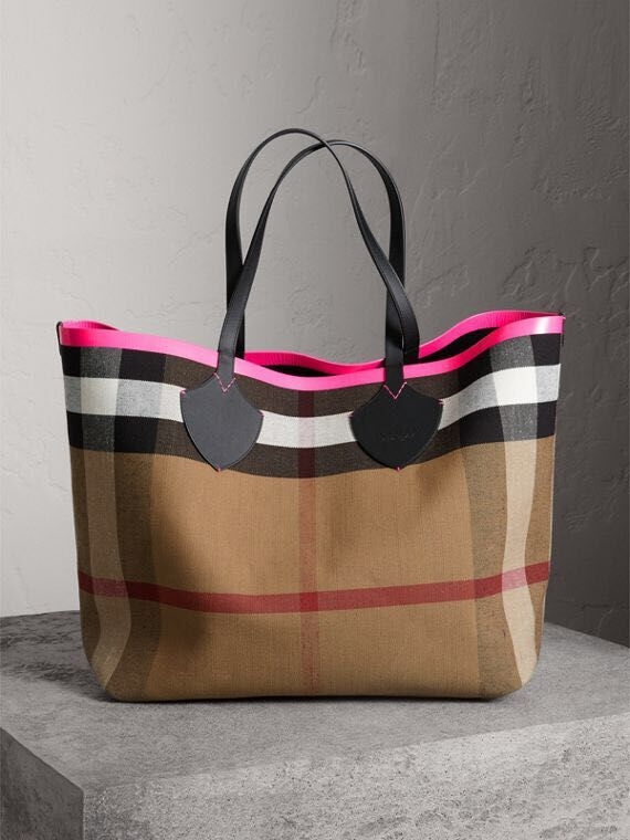 BurBerry Tote Shopping bags BU5548 red