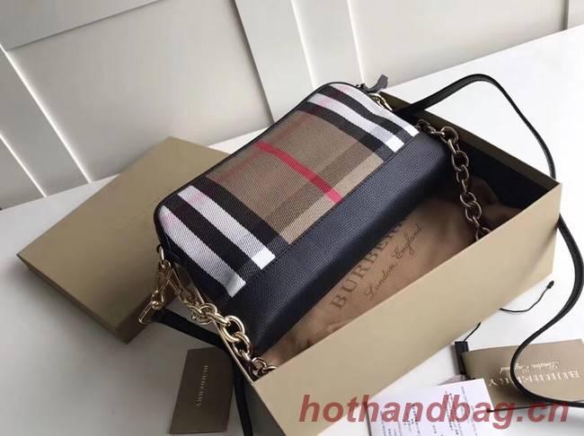 Burberry Calfskin Leather Should Bag 41711 black