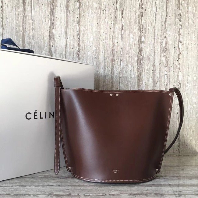 CELINE CLASP BUCKET IN SMOOTH CALFSKIN 55423 Wine
