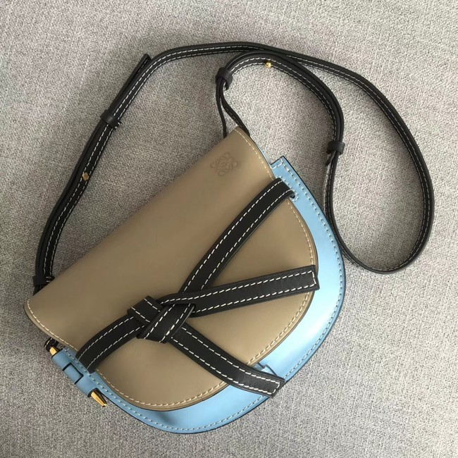 Loewe Crossbody Bags Original Leather 8088 Apricot & light blue