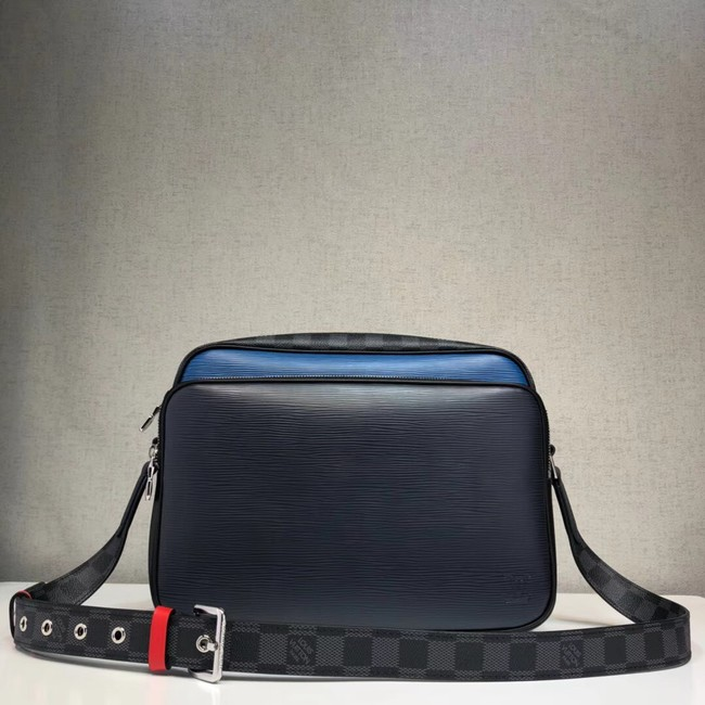 Louis Vuitton original Epi leather NIL SLIM M51465 dark blue