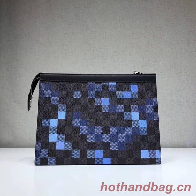 Louis Vuitton original POCHETTE VOYAGE MM N41696 blue