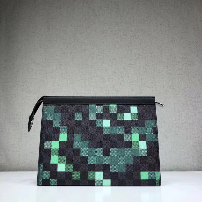 Louis Vuitton original POCHETTE VOYAGE MM N41696 green