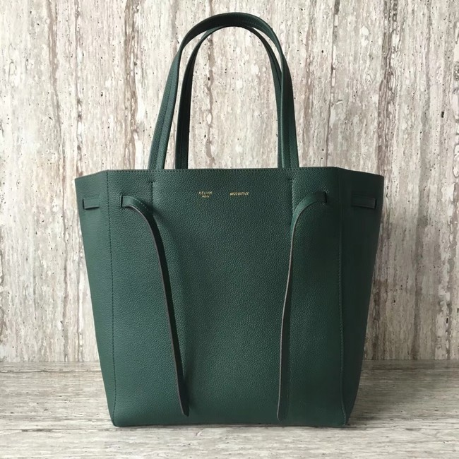 CELINE SMALL CABAS PHANTOM IN SOFT GRAINED CALFSKIN 17602 green
