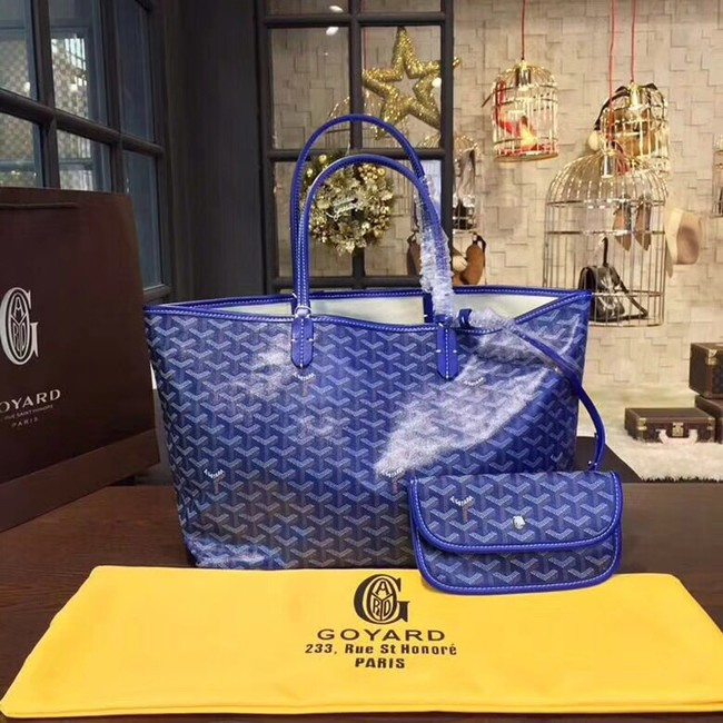 Goyard Y Doodling Calfskin Leather Tote Bag 36987 blue