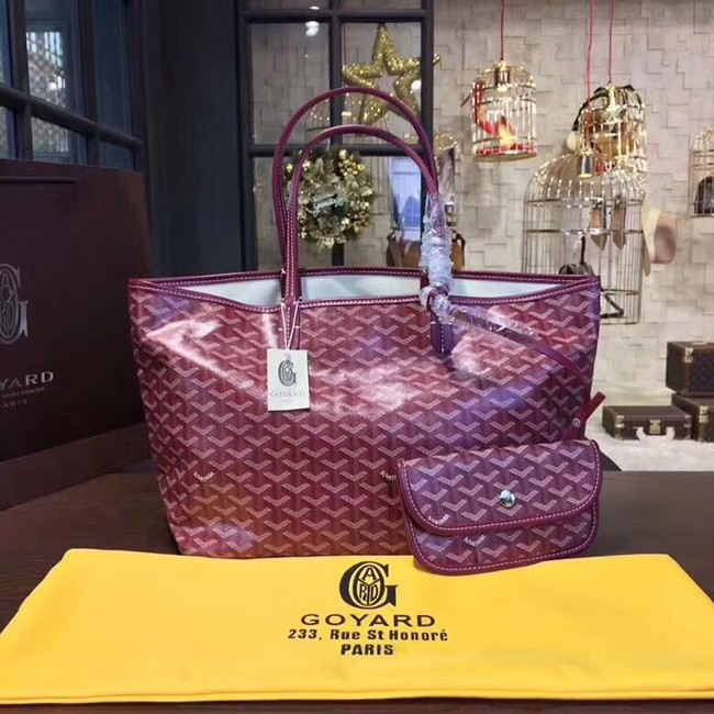 Goyard Y Doodling Calfskin Leather Tote Bag 36987 fuchsia