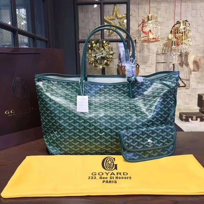 Goyard Y Doodling Calfskin Leather Tote Bag 36987 green