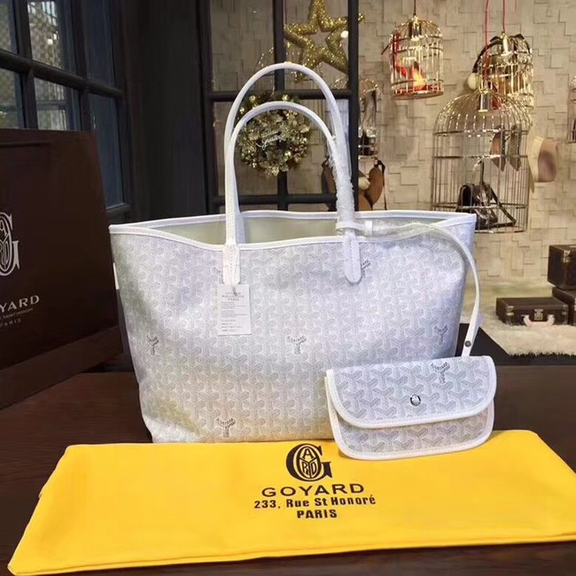 Goyard Y Doodling Calfskin Leather Tote Bag 36987 light gray