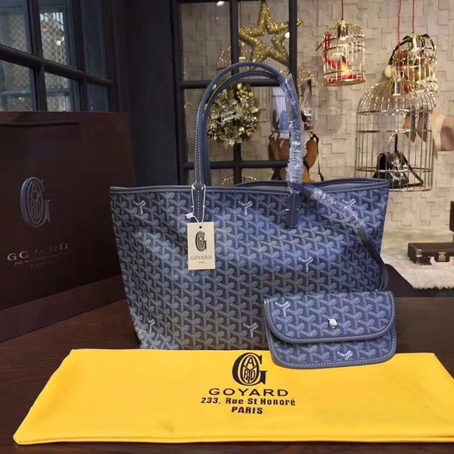 Goyard Y Doodling Calfskin Leather Tote Bag A36987 blue
