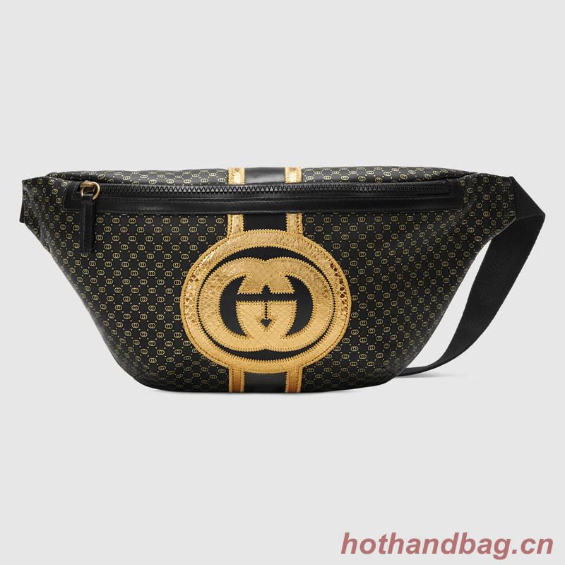 Gucci-Dapper Dan original belt bag 536416 black