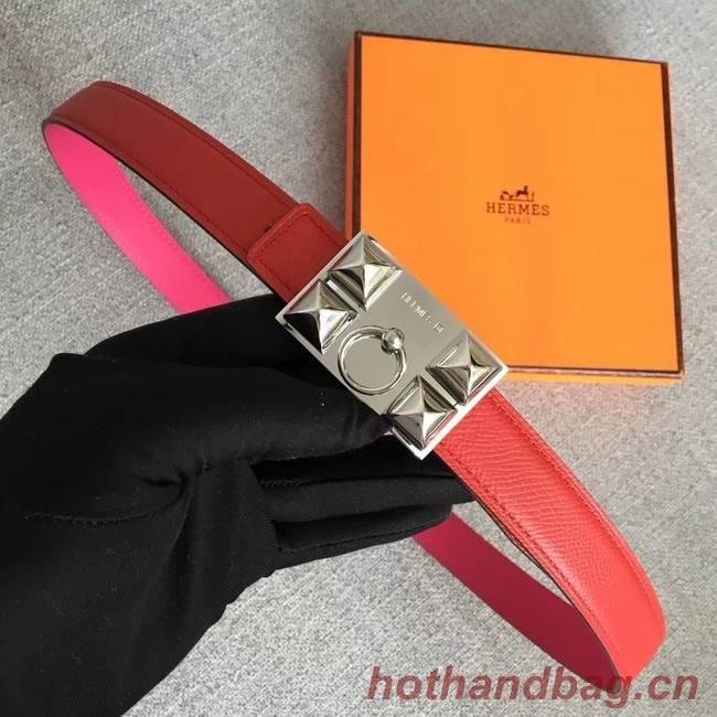 Hermes Collier de Chien belt buckle & Reversible leather strap 24 mm H0521 red