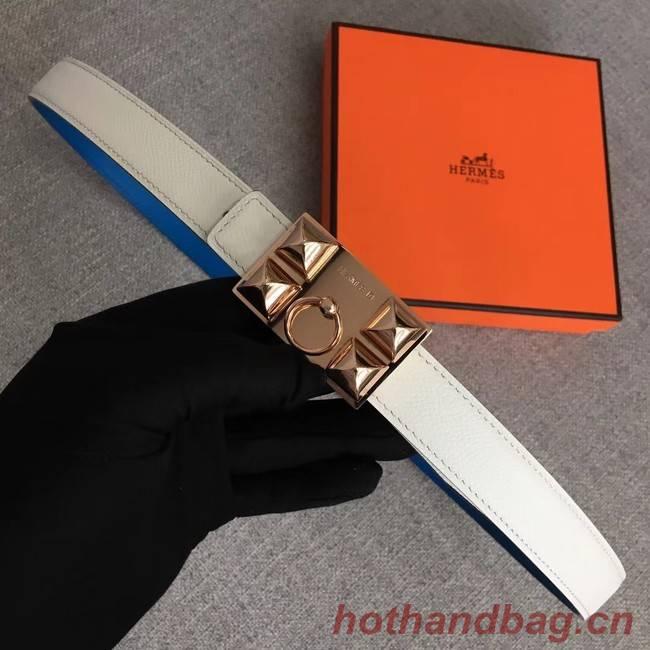 Hermes Collier de Chien belt buckle & Reversible leather strap 24 mm H0521 white