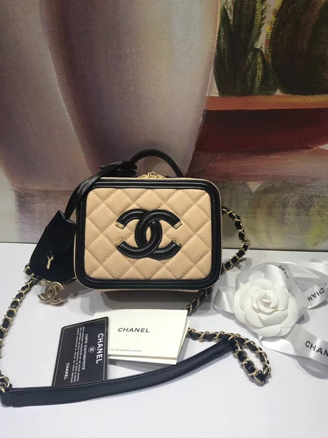 Chanel mini Vanity Case Original A93342 apricot