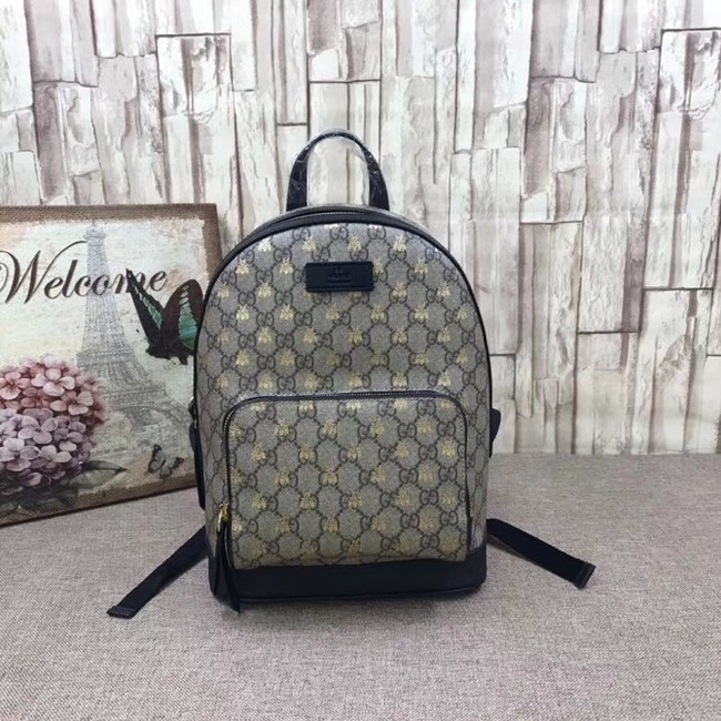 Gucci GG Supreme bees backpack 427042 Black