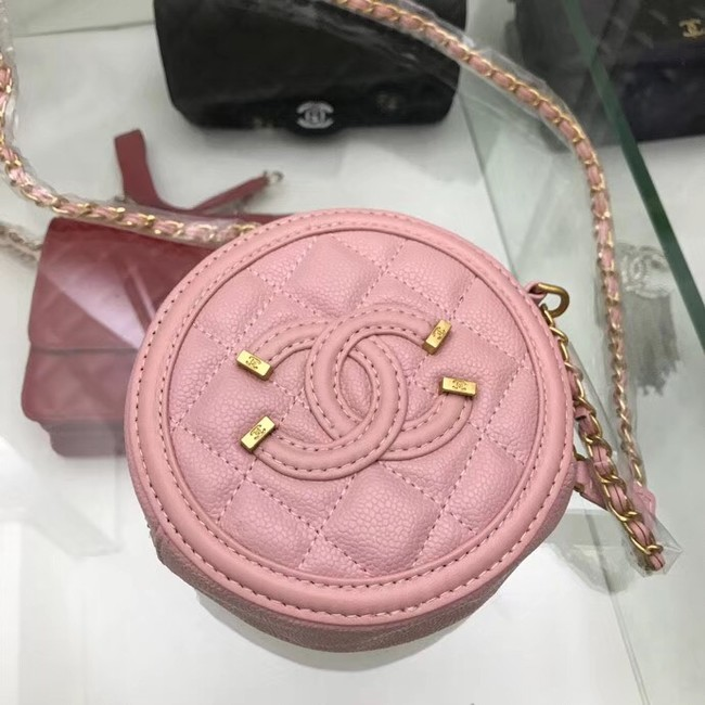 Chanel Original Clutch with Chain A81599 pink