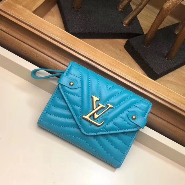 LOUIS VUITTON NEW WAVE COMPACT WALLET M63427 blue