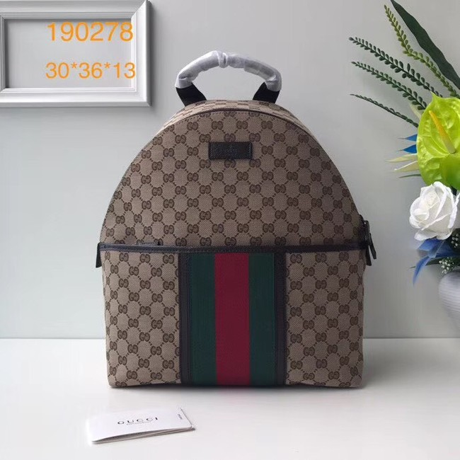 Gucci GG Supreme backpack 190278 brown