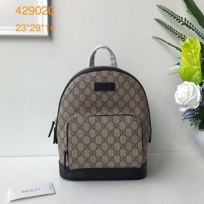 Gucci GG Supreme backpack 427042 Black
