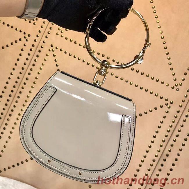 CHLOE Small Nile patent leather bracelet bag 3E1302 grey