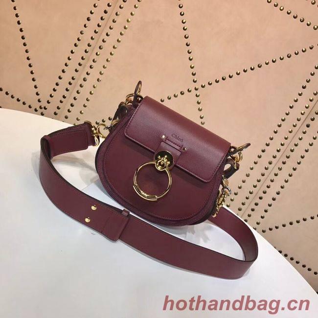 CHLOE Tess Small leather shoulder bag 3E153 Plum purple