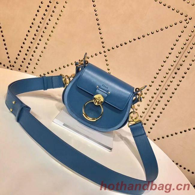 CHLOE Tess Small leather shoulder bag 3E153 blue