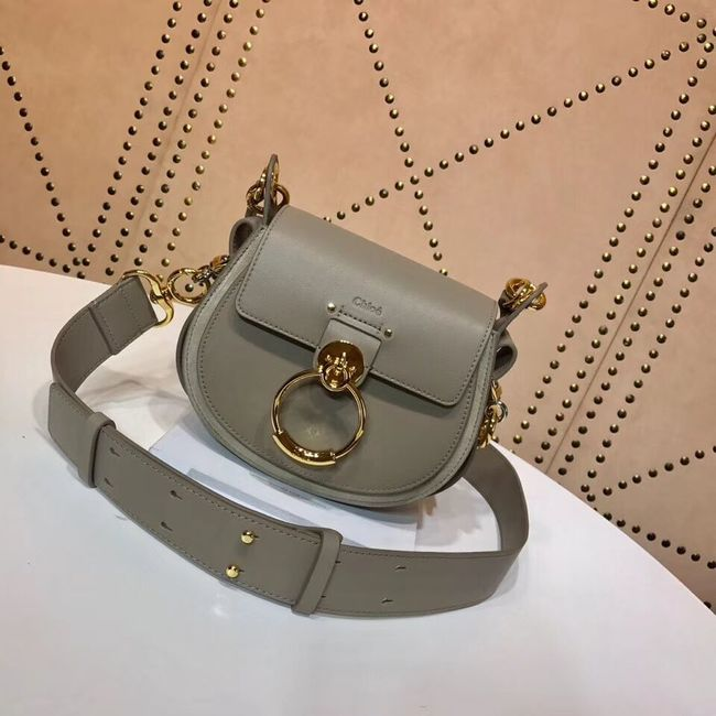 CHLOE Tess Small leather shoulder bag 3E153 grey