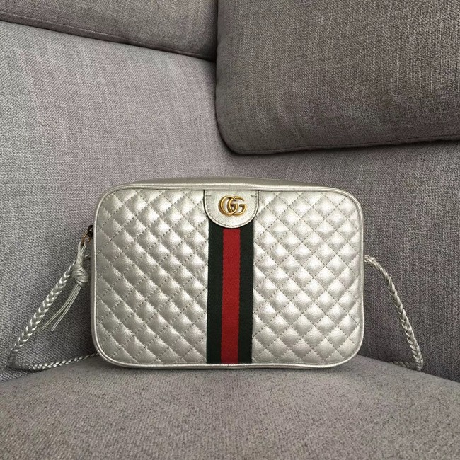 Gucci Laminated leather small shoulder bag 541051