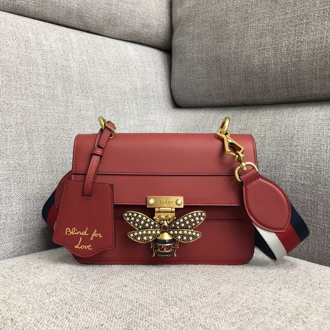 Gucci Queen Margaret small shoulder bag 476542 red