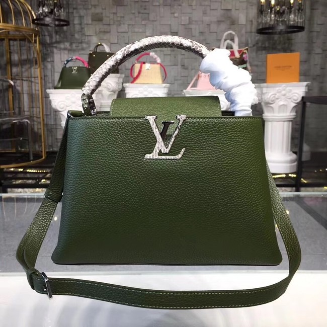 Louis vuitton original CAPUCINES PM M94586 green