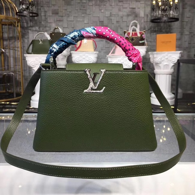 Louis vuitton original CAPUCINES PM M94587 green