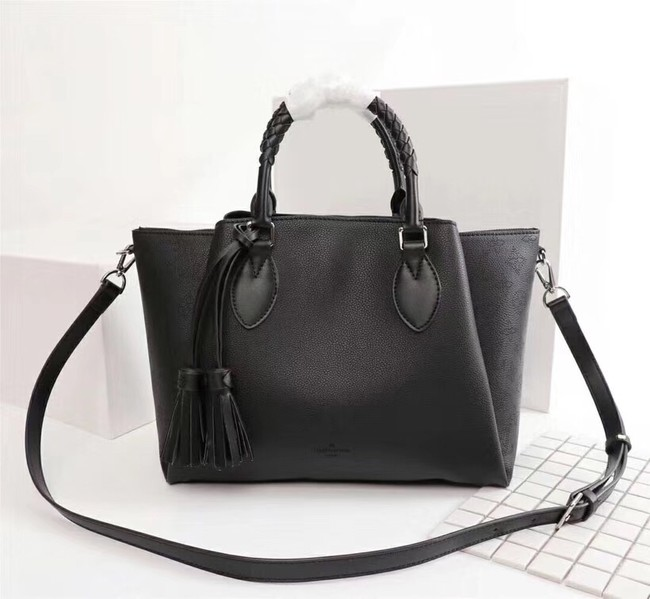 Louis Vuitton Mahina Leather HAUMEA M55030 black
