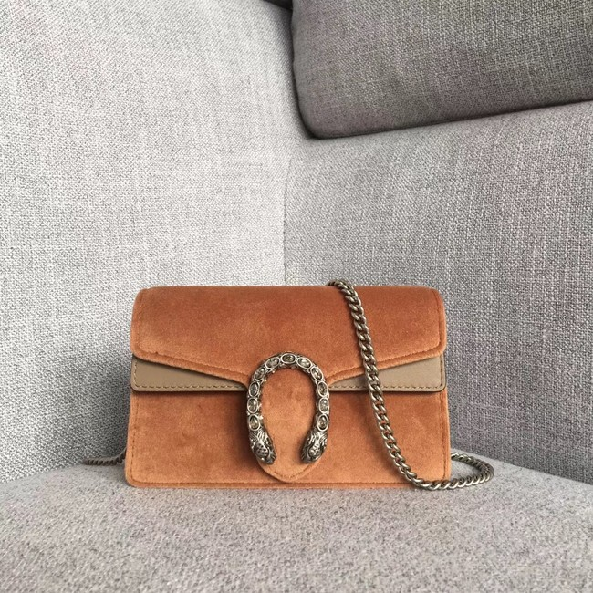 Gucci Dionysus velvet super mini bag 476432 Taupe