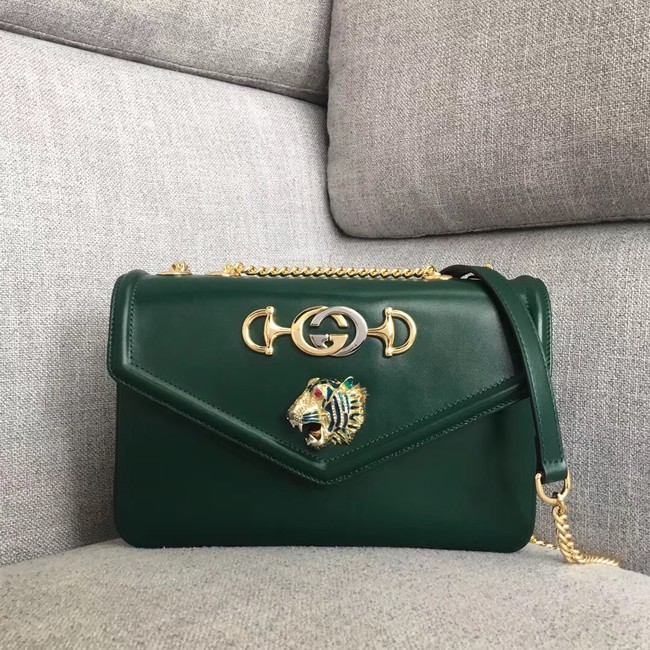 Gucci Rajah medium shoulder bag 537241 green