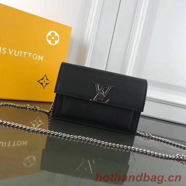 Louis Vuitton MYLOCKME BB CHAIN LOUISE M63471 black