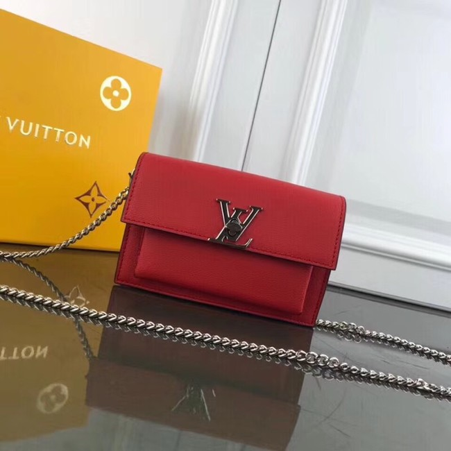 Louis Vuitton MYLOCKME BB CHAIN LOUISE M63471 red