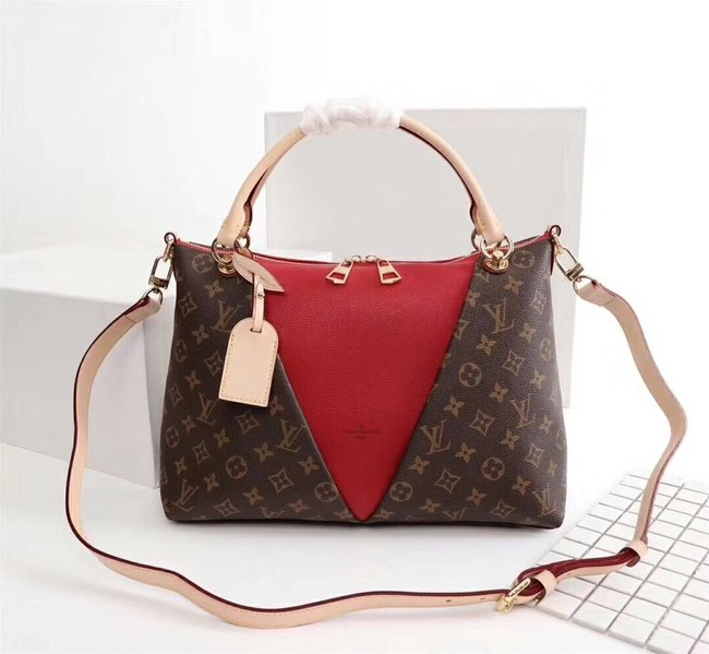 Louis Vuitton V TOTE MM M43949 red