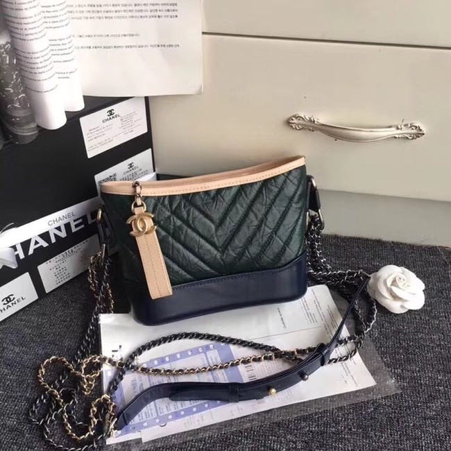 CHANEL GABRIELLE Hobo Bag A91810 green&black
