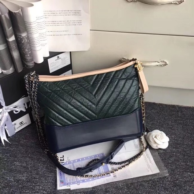 CHANEL GABRIELLE Hobo Bag A93824 green&black