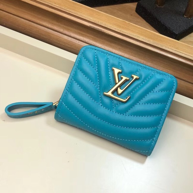 LOUIS VUITTON NEW WAVE COMPACT WALLET M63789 blue
