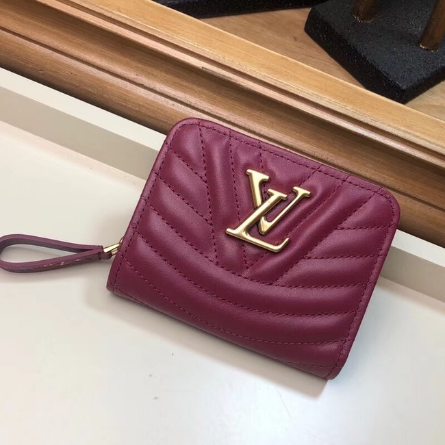 LOUIS VUITTON NEW WAVE COMPACT WALLET M63789 fuchsia