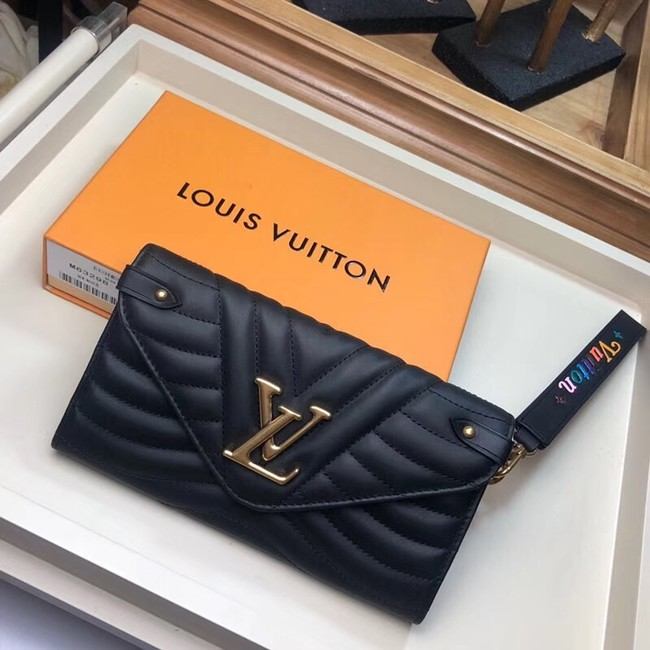 LOUIS VUITTON NEW WAVE LONG WALLET M63298 black