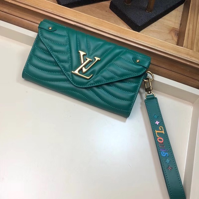 LOUIS VUITTON NEW WAVE LONG WALLET M63298 green