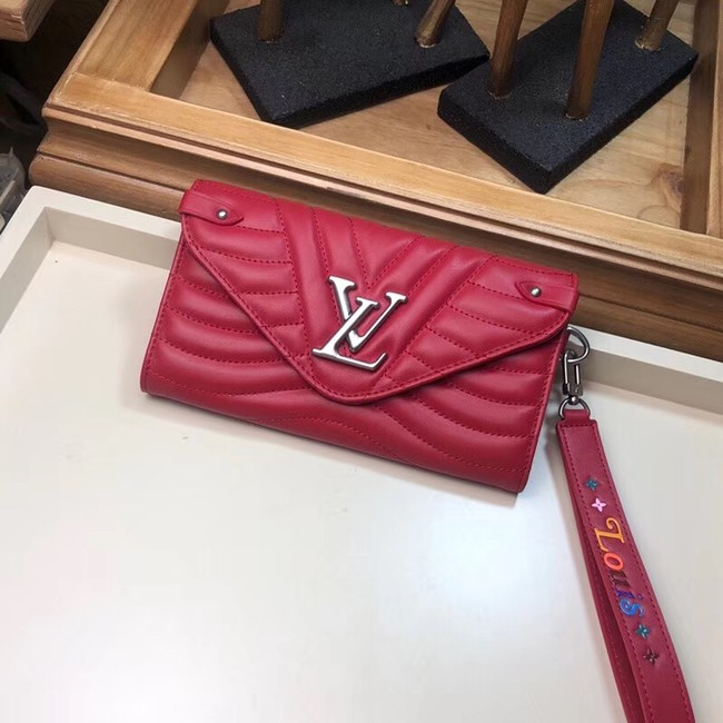 LOUIS VUITTON NEW WAVE LONG WALLET M63298 red