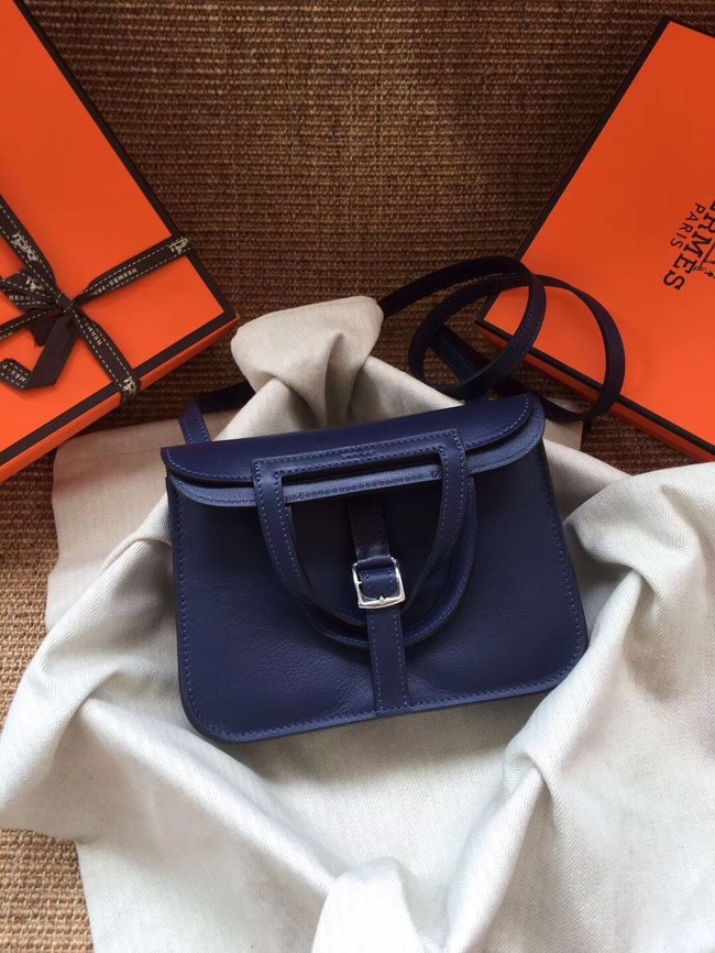 Hermes Original Halzan mini bag H069523 blue