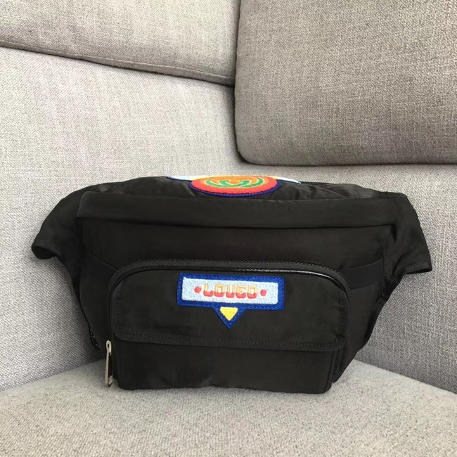 Gucci Belt bag with Gucci 80s patch 536842 black